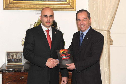Charles Daniel Saliba with PM