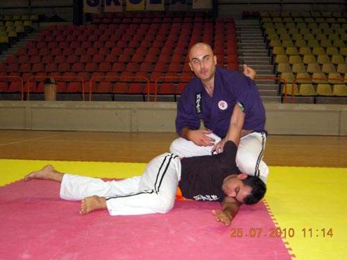 Sensei Charles Daniel Saliba applying an elbow lock