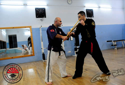 Charles Daniel Saliba training with Shinin Borut Kincl (6th Dan Black Belt)
