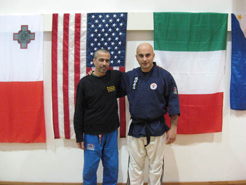 Major Avi Nardia, anti-terrorism expert and leader of Kapap Combatives, together with Charles Daniel Saliba